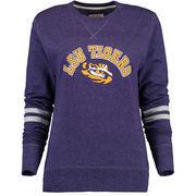 LSU Tigers Alta Gracia (Fair Trade) Women's Relaxed Fit Rosaura Pullover Fleece Sweatshirt - Purple