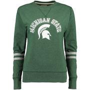 Michigan State Spartans Alta Gracia (Fair Trade) Women's Relaxed Fit Rosaura Pullover Fleece Sweatshirt - Green