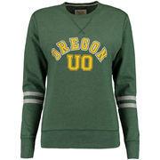 Oregon Ducks Alta Gracia (Fair Trade) Women's Relaxed Fit Rosaura Pullover Fleece Sweatshirt - Green
