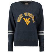 West Virginia Mountaineers Alta Gracia (Fair Trade) Women's Relaxed Fit Rosaura Pullover Fleece Sweatshirt - Navy