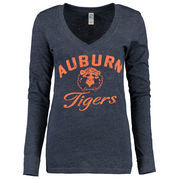 Auburn Tigers New Agenda Women's Fanciful Long Sleeve T-Shirt - Navy