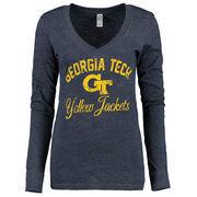 Georgia Tech Yellow Jackets New Agenda Women's Fanciful Long Sleeve T-Shirt - Navy