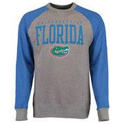 Florida Gators Alta Gracia (Fair Trade) Ramon Raglan Fleece Crew Sweatshirt - Charcoal/Royal