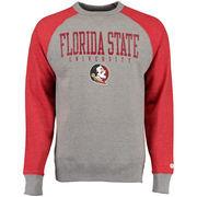 Florida State Seminoles Alta Gracia (Fair Trade) Ramon Raglan Fleece Crew Sweatshirt - Charcoal/Garnet