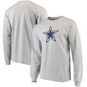 Dallas Cowboys Ash Logo Premier Long Sleeve T-shirt