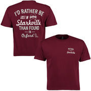 Mississippi State Bulldogs Lost Found T-Shirt - Maroon