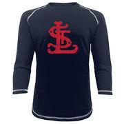 St. Louis Cardinals Majestic Threads Vintage Logo 3/4-Sleeve Raglan T-Shirt - Navy