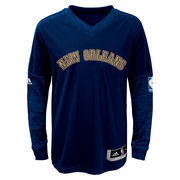 New Orleans Pelicans adidas Youth On-Court Shooter Long Sleeve T-Shirt - Navy