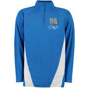 Dale Earnhardt Jr. Quarter-Zip Performance Layering Long Sleeve T-Shirt - Blue