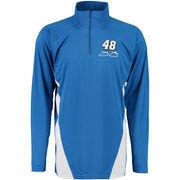 Jimmie Johnson Quarter-Zip Performance Layering Long Sleeve T-Shirt - Royal