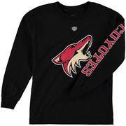 Arizona Coyotes Old Time Hockey Youth Two Hit Long Sleeve T-Shirt - Black