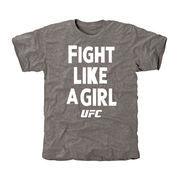 UFC Fight Like A Girl 2015 Tri-Blend T-Shirt - Gray