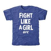 UFC Fight Like A Girl 2015 Tri-Blend T-Shirt - Royal
