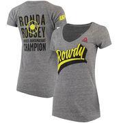 Ronda Rousey UFC Reebok Women's Dimensional T-Shirt - Heather Gray