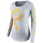 Pittsburgh Pirates Nike Women's Fade Long Sleeve T-Shirt - Gray