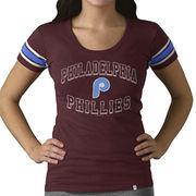 Philadelphia Phillies '47 Women's Off Campus Vintage Logo T-Shirt - Maroon