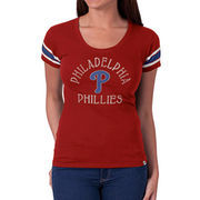 Philadelphia Phillies '47 Women's Off Campus IV Logo Center T-Shirt - Red