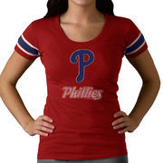 Philadelphia Phillies '47 Women's Off Campus II Top Logo Below Team Name T-Shirt - Red