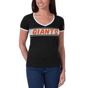 San Francisco Giants '47 Women's Fly Ball Ringer T-Shirt - Black