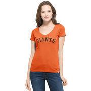San Francisco Giants '47 Women's MVP Flanker V-Neck T-Shirt - Orange