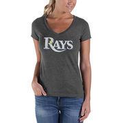 Tampa Bay Rays '47 Women's Showtime V-Neck T-Shirt - Gray