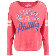 Philadelphia Phillies Touch by Alyssa Milano Women's Free Fall Long Sleeve T-Shirt - Red