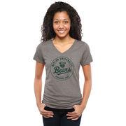 Baylor Bears Women's Established Vintage Tri-Blend V-Neck T-Shirt - Ash
