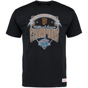 San Francisco Giants Mitchell & Ness Team Record Tailored T-Shirt - Black