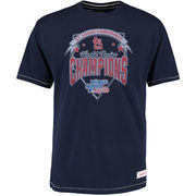 St. Louis Cardinals Mitchell & Ness Team Record Tailored T-Shirt - Navy