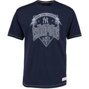 New York Yankees Mitchell & Ness Team Record Tailored T-Shirt - Navy