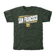 San Francisco Dons Double Bar Tri-Blend T-Shirt - Green