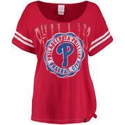 Philadelphia Phillies 5th & Ocean by New Era Women's Scoop Neck Side Tie T-Shirt - Red
