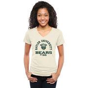 Baylor Bears Women's Hardened Vintage Tri-Blend V-Neck T-Shirt - White