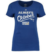 Kansas City Royals Majestic Women's Authentic Collection Always October T-Shirt - Royal