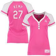 Matt Kemp Los Angeles Dodgers Majestic Women's Splash Player League Diva T-Shirt - Pink/White