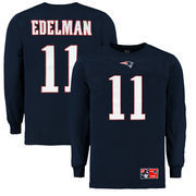 New England Patriots Majestic Julian Edelman Eligible Receiver II Name & Number Long Sleeve T-Shirt - Navy
