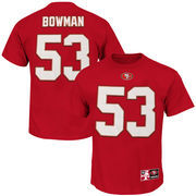 NaVorro Bowman San Francisco 49ers Majestic Big & Tall Eligible Receiver Name and Number T-Shirt - Scarlet