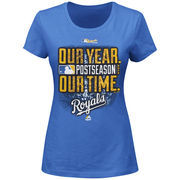 Kansas City Royals Majestic Women's Our Time, Our Year T-Shirt - Blue