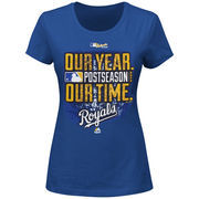 Kansas City Royals Majestic Women's Our Time, Our Year T-Shirt - Royal
