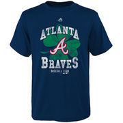 Atlanta Braves Majestic Youth Great Luck T-Shirt - Navy