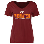 Virginia Tech Hokies Women's Custom Sport T-Shirt - Maroon