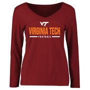 Virginia Tech Hokies Women's Custom Sport Long Sleeve T-Shirt - Maroon