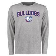Louisiana Tech Bulldogs Proud Mascot Long Sleeve T-Shirt - Ash