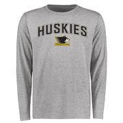 Michigan Tech Huskies Proud Mascot Long Sleeve T-Shirt - Ash