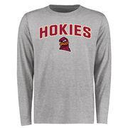 Virginia Tech Hokies Proud Mascot Long Sleeve T-Shirt - Ash