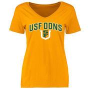 San Francisco Dons Women's Proud Mascot T-Shirt - Gold -
