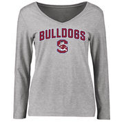 South Carolina State Bulldogs Women's Proud Mascot Long Sleeve T-Shirt - Ash