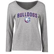 Louisiana Tech Bulldogs Women's Proud Mascot Long Sleeve T-Shirt - Ash
