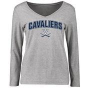 Virginia Cavaliers Women's Proud Mascot Long Sleeve T-Shirt - Ash