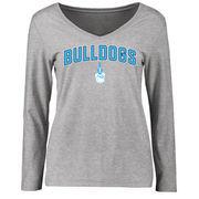 Citadel Bulldogs Women's Proud Mascot Long Sleeve T-Shirt - Ash